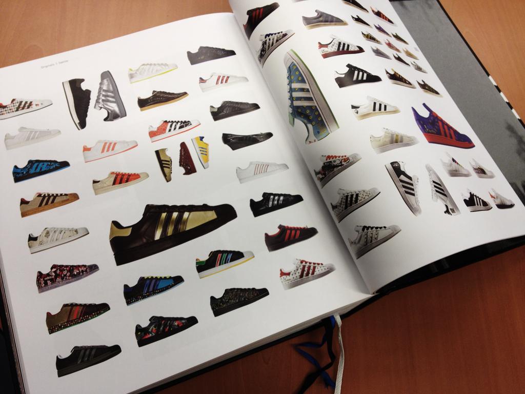 Adidas three stripes history book