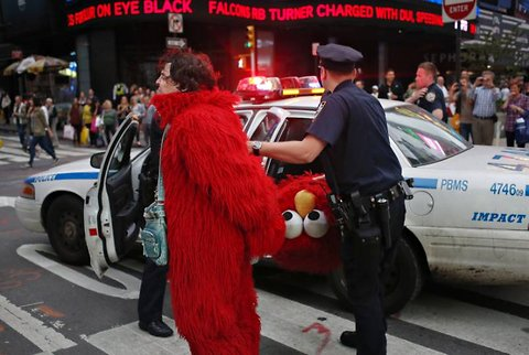 anti semitic elmo new york city