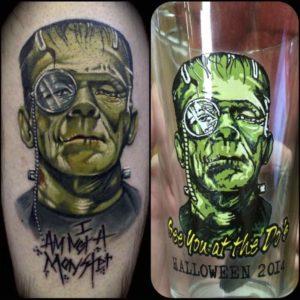 LaDouceur - Macado's - Frankenstein tattoo