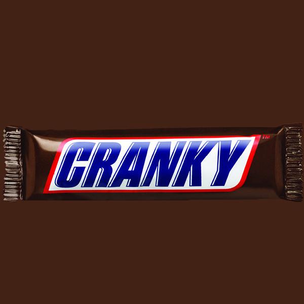 snickers-cranky