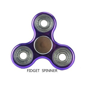 Fidget spinner spins around