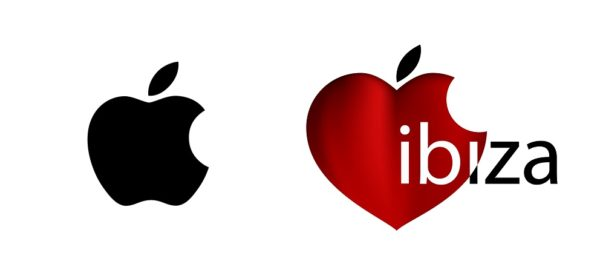 Apple logo against apple logo